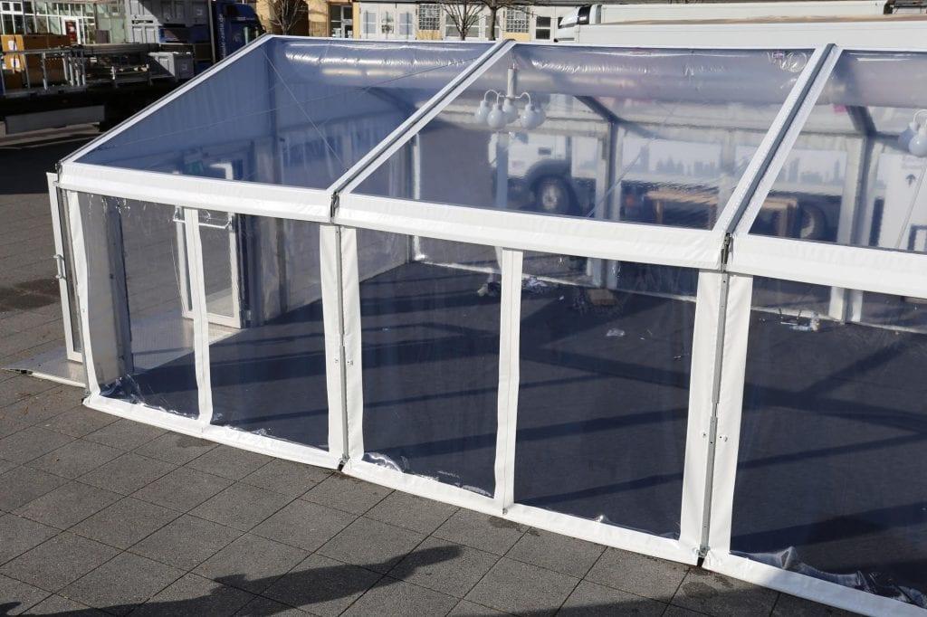 Planenvarianten Bild für Mitte - Transparente Dachplanen